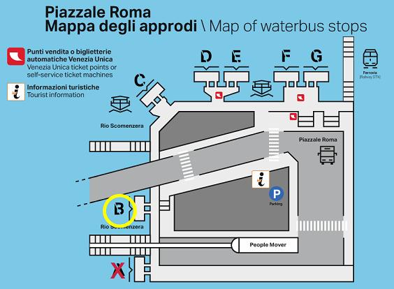 Schema Piazzale Roma deck